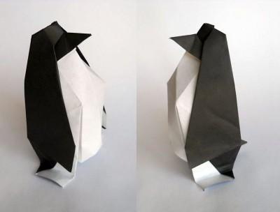 Пингвин оригами схема складывания видео