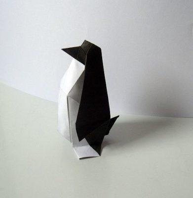 Пингвин оригами видео схема от Jo Nakashima