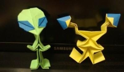 Пришелец оригами схема сборки видео