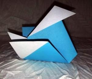 Простая утка оригами мастер класс по сборке