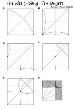 Схема сборки змеи оригами