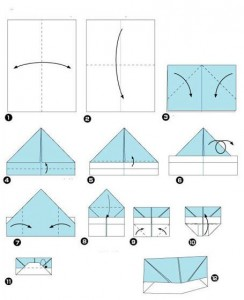 Схема складывания шляпа оригами видео