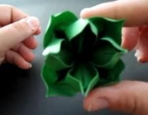 Цветок оригами мастер класс