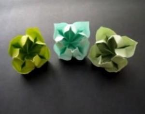 Цветок оригами схема сборки видео