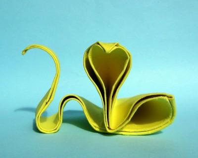 Змея оригами мастер класс