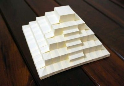 Пирамида оригами схема сборки видео