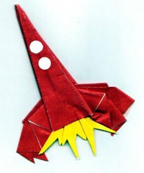 Бумажная ракета оригами