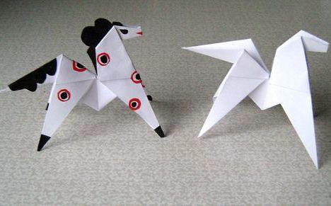 Cхема оригами лошадь