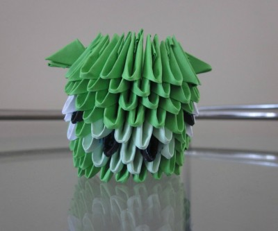 Cвинка Angry Birds оригами
