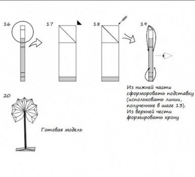 Дерево оригами схема складывания