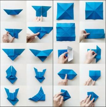Фото схема складывания конверта с крыльями оригами