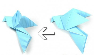 Голубь из бумаги своими руками схема