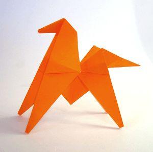 Как сделать оригами лошадь