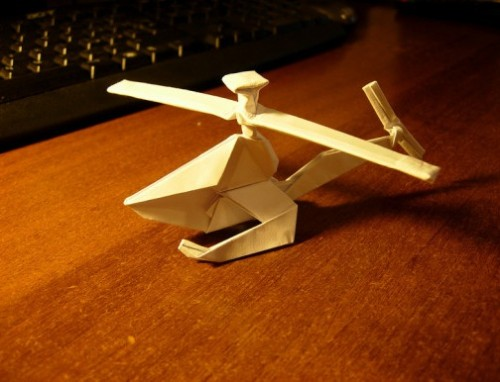 Как сделать вертолет оригами