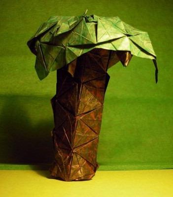 Красивая пальма оригами по схеме Gerwin Sturm