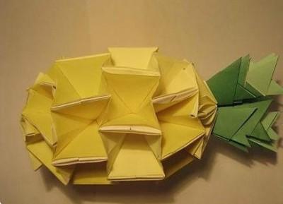 МК модульное оригами ананас