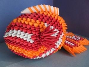 Модульное оригами рыба мастер класс