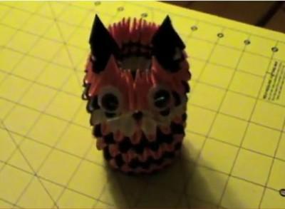 Модульное оригами тигр схема