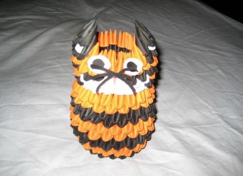 Модульное оригами тигр видео