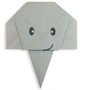 Мордочка слона оригами видео