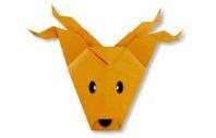 Олень оригами вариант 2