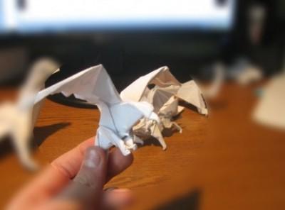 Орел оригами схема
