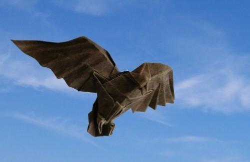 Орел оригами за схемой Christophe Boudias