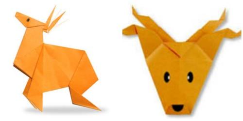 Оригами Олень 2 схемы сборки