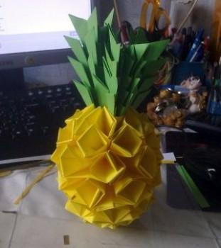 Оригами ананас схема сборки