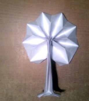 Оригами дерево своими руками видео урок