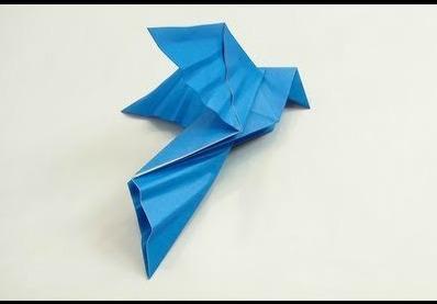 Оригами голубь мира МК по сборке