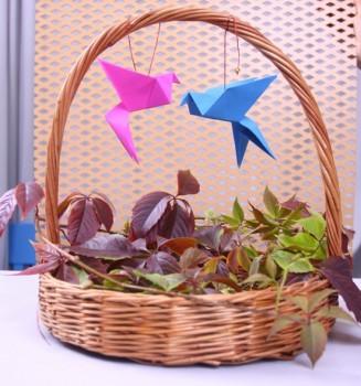 Оригами из бумаги голубь