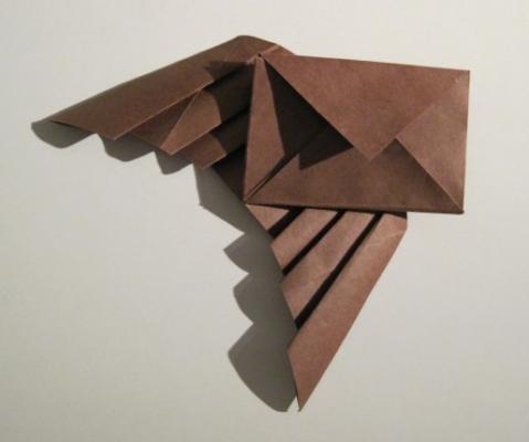 Оригами из бумаги конверт с крыльями за схемой Takashi Hojyo