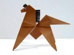 Оригами из бумаги лошадь