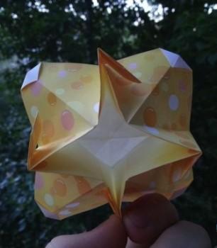 Оригами из бумаги цветок схема