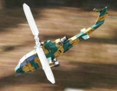 Оригами из бумаги вертолет