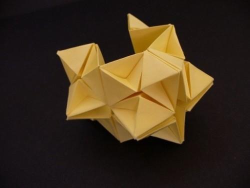 Оригами из бумаги звезда