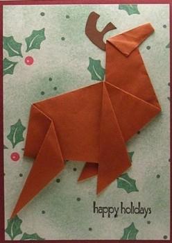 Оригами олень схема сборки мастер класс
