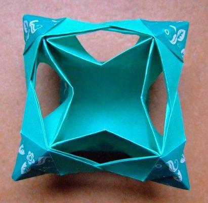 Оригами подсвечник из бумаги