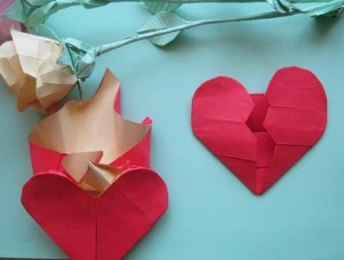 Оригами разбитое сердце схема