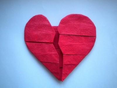 Оригами сердце за схемой Marcin Woloszin