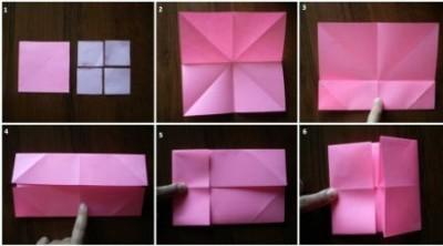 Оригами схема сборки фоторамки шаг 1-6