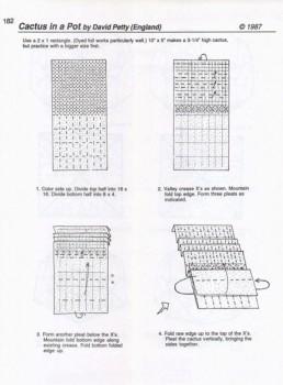 Оригами схема сборки кактуса