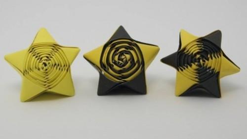 Оригами слоеная звезда за схемой Jo Nakashima