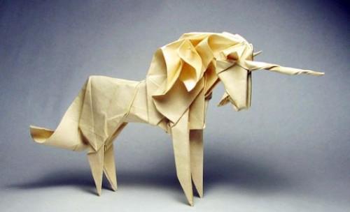 Оригами удивительный Единорог