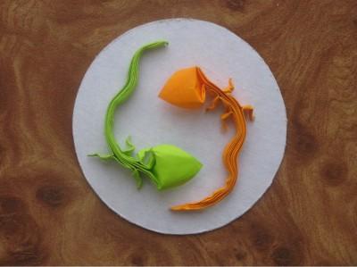Оригами ящерица мастер класс по сборке