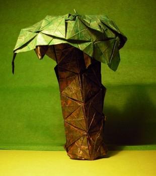 Пальма оригами из бумаги схема складывания