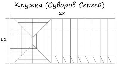 Паттерн сборки кружки оригами