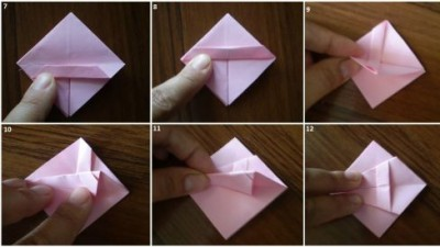 Пошаговая схема оригами фоторамка 7-12