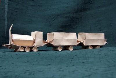 Схема оригами поезд
